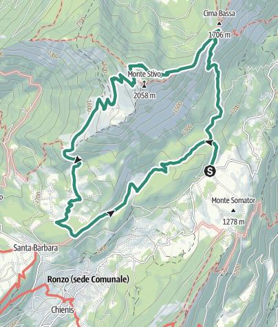 Cartina / Salita al Monte Stivo