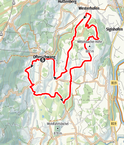 Karte / Wald-und-Wiesen-Radtour durch Ofterschwang