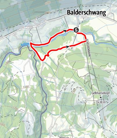 Karte / Lappach Runde - Nordic Walking bei Balderschwang