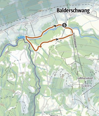 Map / Lappach Runde - Nordic Walking bei Balderschwang