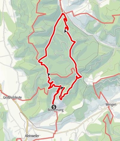 Karte / Isny - Über den Schwarzen Grat nach Eisenbach