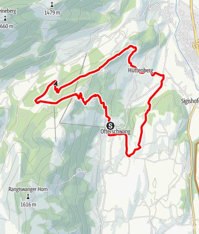 Karte / Ofterschwanger Radrunde Wald-Wiesen-Berg