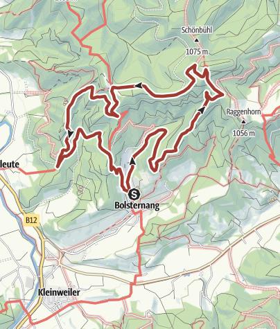Cartina / Schwarzer Grat Erlebnisweg