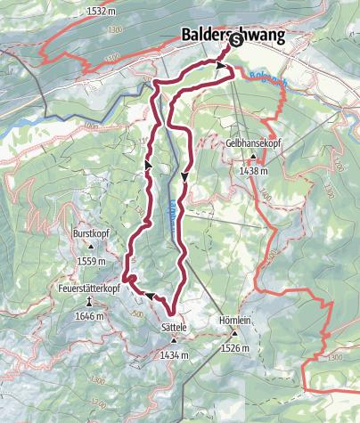 Map / Wanderung zur Burgl-Hütte ab Balderschwang