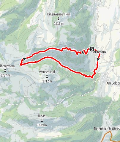 Karte / Radtour durchs Bolgental zum Schwabenhaus bei Bolsterlang