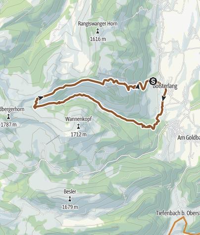 Map / Radtour durchs Bolgental zum Schwabenhaus bei Bolsterlang