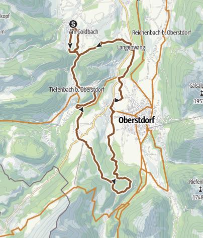 Map / Radtour zum Freibergsee ab Obermaiselstein