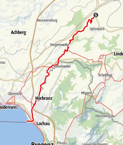 Karte / Weißenberg R1 Leiblachtalwanderweg