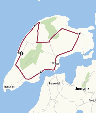 Karte / Um die Insel Ummanz