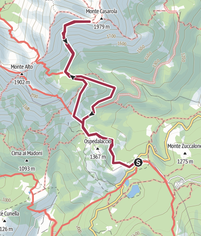 Map / Passo del Cerreto - Sella Casarola
