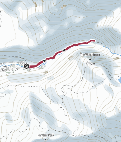 Map / Tokopah Falls Trail