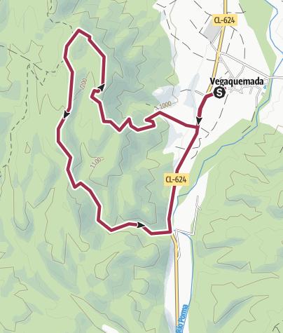 Map / ALTO DE LOS CUETOS DESDE VEGAQUEMADA