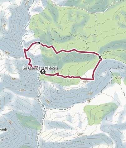 Map / Caserios de valdeteja (Circular)