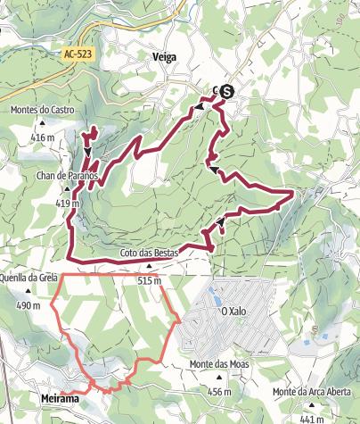 Map / Celas - Xalo - Celas