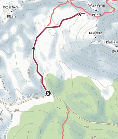 Map / San Isidro-Peña Viento-Lago Ubales-San Isidro 1