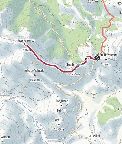 Map / Pico Ferreirua desde Puerto Ventana 1