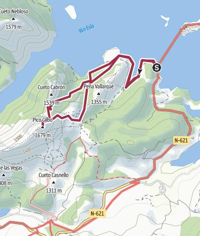 Map / Pico Gilbo (Desde el puente de Riaño)