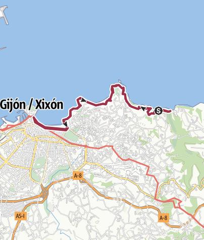 Map / Playa Estaño-gijón-Playa Ñora-Playa Estaño