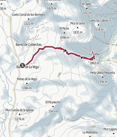Map / Torrebarrio  Peña Ubina (no cumbre)