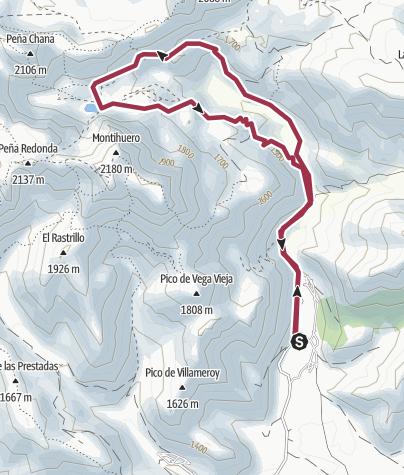 Map / Torre de Babia-Laguna de Las Verdes-Torre de Babia
