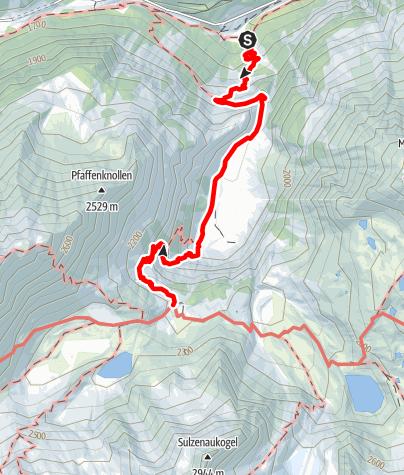 Karte / WildeWasserWeg - Etappe 2: Grawa Wasserfall - Sulzenau Hütte