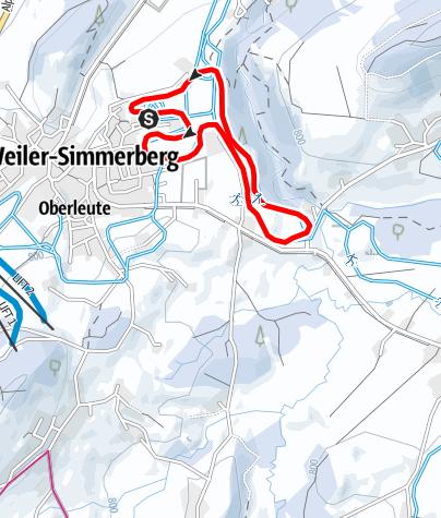 Karte / Weiler-Simmerberg R19 Nagelshuber-Loipe