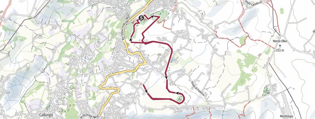 Carte / San Marino - Percorso della vecchia ferrovia
