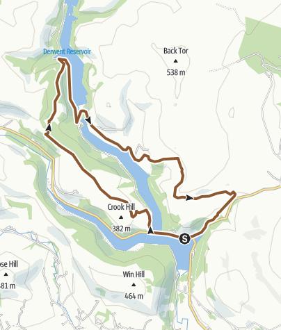 Mapa / Ladybower North