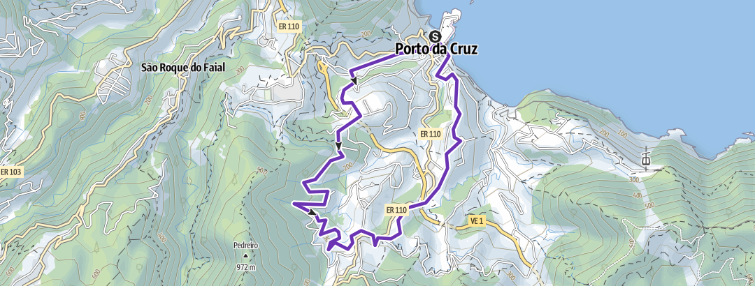 Map / Trail 9km - Porto da Cruz