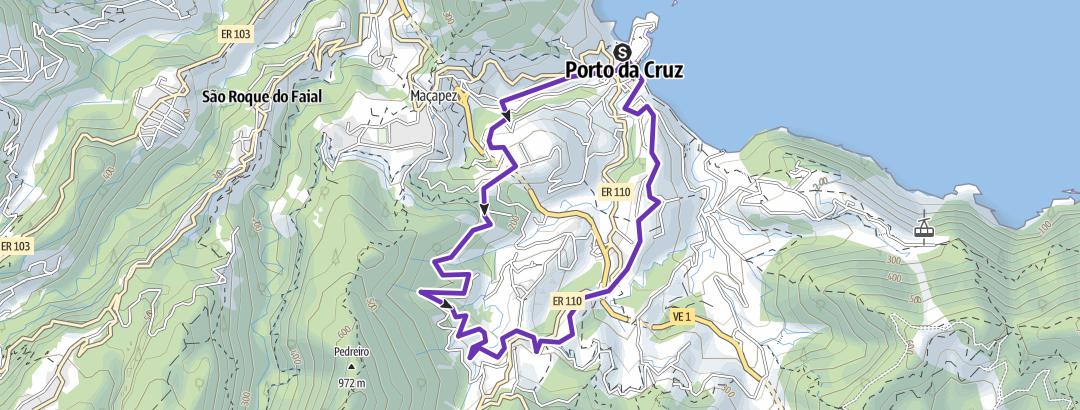 Hartă / Trail 9km - Porto da Cruz