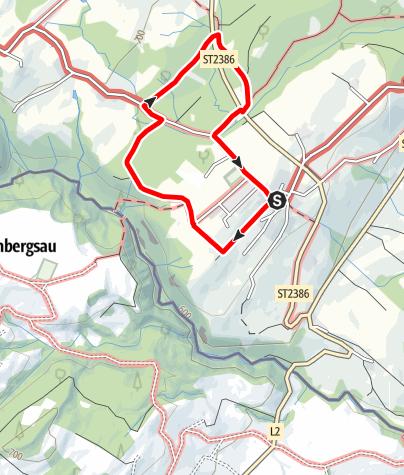 Karte / Scheidegg R5 Waldwanderung ab Scheffau