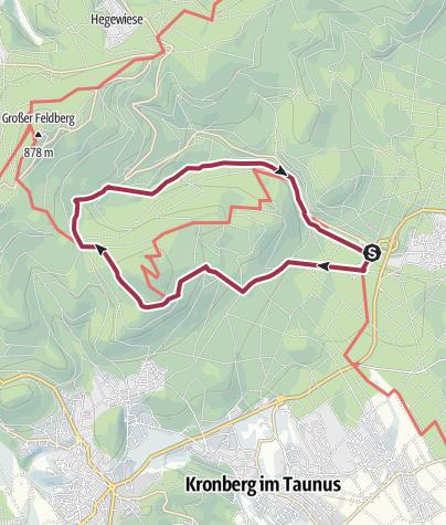Karte / Klimareize zwischen Altkönig und Feldberg