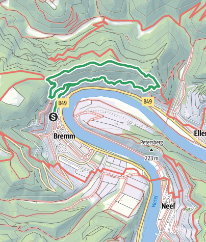 Karte / Klettersteig Calmont