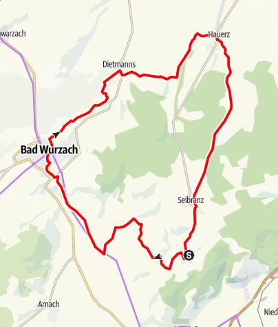 Karte / Bad Wurzach - Durch das bäuerliche Land zum Wachbühl