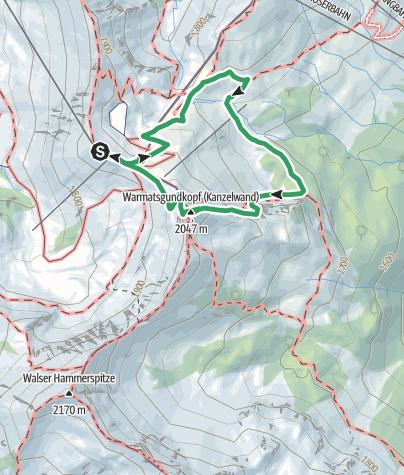 Karte / Zweiländer-Sportklettersteig Kanzelwand