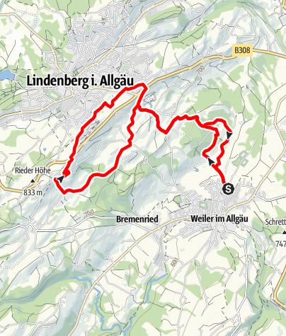 Karte / Weiler-Simmerberg R10