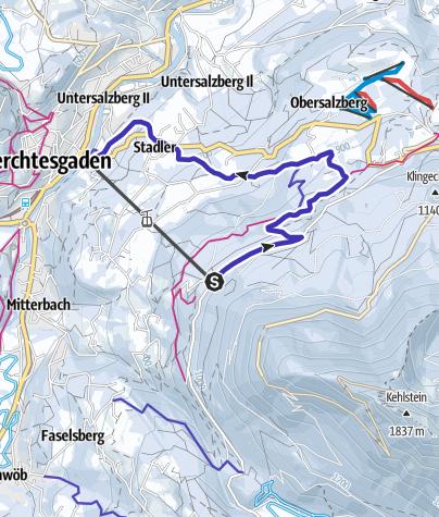 Karte / Rodeln an der Obersalzbergbahn in Berchtesgaden