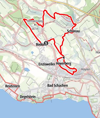 Karte / Bodolz R3 Wanderweg 3