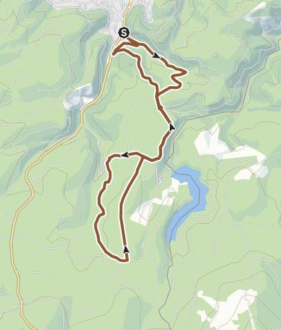 Karte / Mit dem Bike durch den Nationalpark Harz