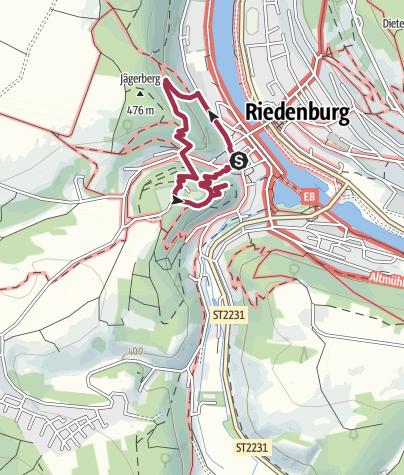Karte / Drei-Burgen-Wanderung um Riedenburg im Altmühltal