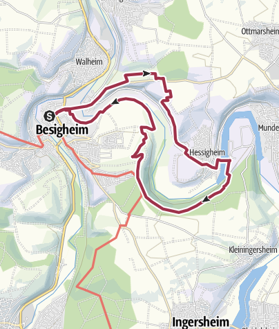 Karte / Besigheimer Felsengärten