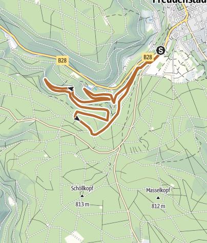 Karte / Walking zum Löwenbrunnen bei Bad Rippoldsau