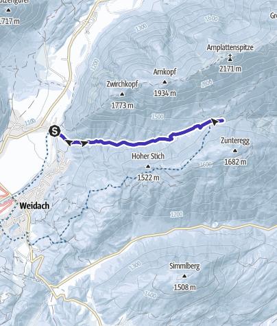 Karte / Rodeln pur im Satteltal bei Leutasch