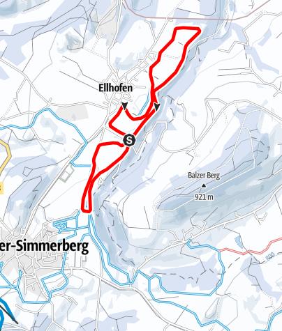 Karte / Weiler-Simmerberg R20 Tobelrand-Loipe