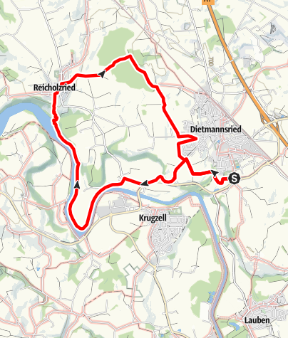 Karte / Wanderweg 1
