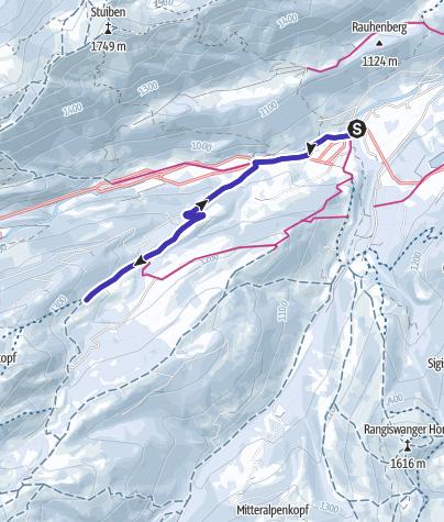 Karte / Gunzesried - Alpe Rappengschwend