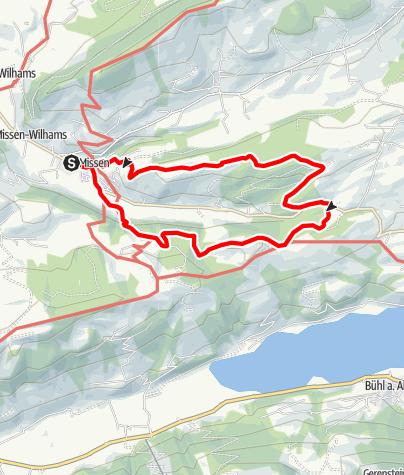 Karte / Missen-Kühberg-Schlettermoos-Jugetalpe-Missen