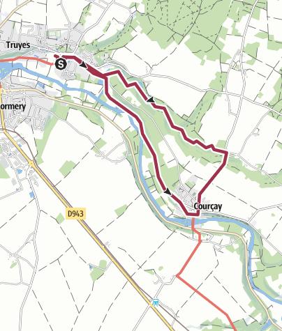 Map / Truyes Tracé 25 août 2014 13:37:57