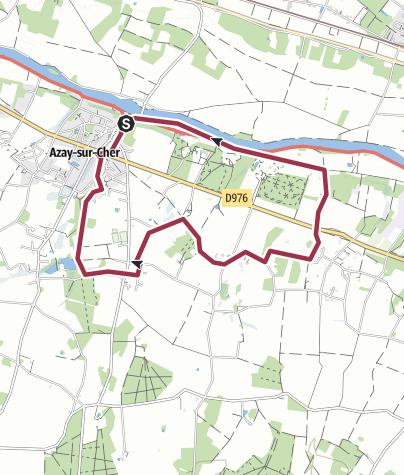 Map / Azay sur cher Tracé 27 avr. 2015 13:35:00