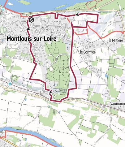 Map / Montlouis sur Loire Tracé 2 mars 2015 13:36:42